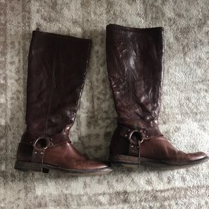 Women's Frye boots leather harness